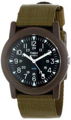 Timex Men's T41711 Camper Green Fabric Strap Watch $29.28 http://roksmu.blogspot.com/2014/07/army-watch.html
