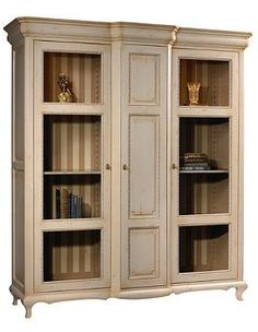 French style meets the breakfront cabinet to create the Villebon Vitrine Cabinet; a beautiful place to display and store your cherished items.