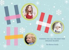 Lovely holiday photo card by PurpleTrail.com. #holidaycards #Christmascards #holidayphotocards #christmasphotocards