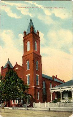 "Cooper Postcard Collection  ""Jewish Synagogue, Vicksburg, Miss."""