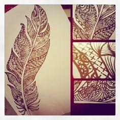 Henna Feather