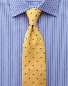 Classic Fit Hemd aus ägyptischer Struktur-Baumwolle in himmelblau mit Streifen
