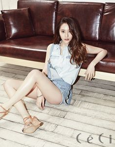 Krystal Jung Blue Denim Short Jumper