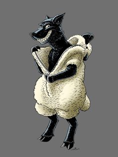 """""""Wolf in Sheeps Clothing"""" by Maurice Campobasso Guinea Pig Costumes, Guinea Pig Clothes, Sheep Costumes, Lamb Costume, Wolf, Christian Art, Christian Crafts, Animal Masks, Jesus On The Cross"""