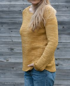Gretchen Pullover by Isabell Kraemer, knitted by noramo | malabrigo Sock in Ochre