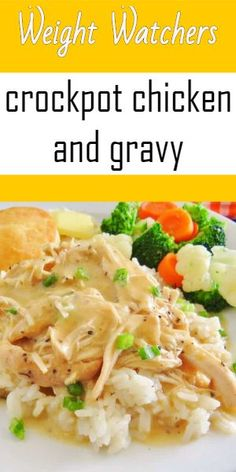 crockpot chicken and gravy – Weight watchers recipes - Lombn Sites Crockpot Chicken And Gravy, Slow Cooker Chicken, Weight Watcher Dinners, Weight Watchers Chicken, Clean Eating, Healthy Eating, Weight Watchers Slow Cooker Recipe, Weightwatchers Recipes, Weight Watchers Recipes With Smartpoints
