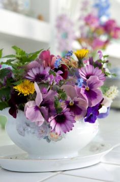"""This colourful decoration detail is from our feature """"Flair with Flowers"""""""
