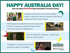 Happy #AustraliaDay! Celebrate Alexander's favorite country with some fun facts.