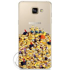 Minions Cat Mickey & Minnie Kiss Hard Case Cover For Samsung Galaxy A310 A510 A710 J110 J510 J710 A3 A5 A7 J1 J5 J7 2016
