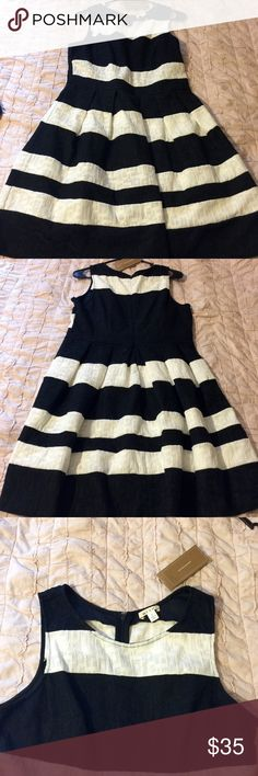 NEW WITH TAGS  Fit and Flare dress Large - Black and White - Fit and Flare Dress - NWT - Bought for a couple's shower, but ended up wearing something else - Bought from Francesca's Boutique Miami - Francesca's Boutique  Dresses