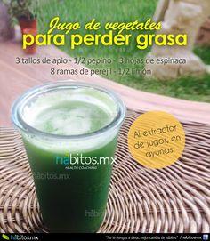 Hábitos Health Coaching   Jugo de vegetales PARA PERDER GRASA