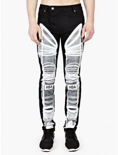 The Hood By Air Men's Astronaut Jeans, seen here in black. Offering a relaxed fit, these jeans from Hood By Air's SS15 collection feature a bold astronaut-inspired print to each leg. Crafted from premium cotton-denim, they are a unique and distinctive style from the streetwear brand, finished with bold HBA branding to the knees. –... Price : 670.57$