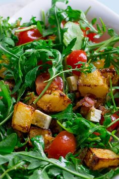 Salat Al Fajr, Salad Recipes, Healthy Recipes, Cheese Salad, Salad Bowls, Pesto, Meal Prep, Healthy Living, Food And Drink