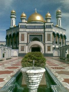 jame' asr mosque, kiulap, brunei