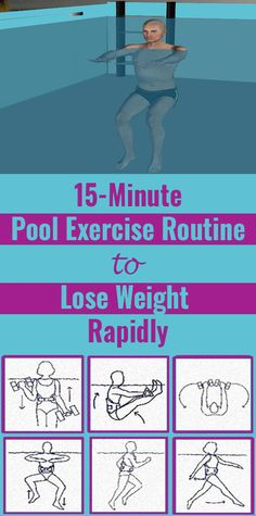 Lose Weight Rapidly With These Pool Exercises Start your workout in the pool and get in shape. Jogging In Place, 15 Minute Workout, Pool Workout, Aqua, Water Aerobics, Lose Weight, Weight Loss, Yoga Routine, Sport