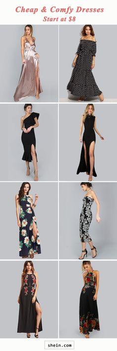 Cheap & comfy dresses start at $8