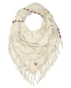 Jersey Scarf With Fringes - Scotch & Soda