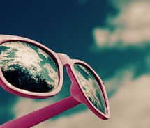 A good pair of sun glasses with a well-fitted nose piece is what it's all about!