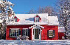 Popular solution is the combination of painting the house red with white windows. Description from avso.org. I searched for this on bing.com/images