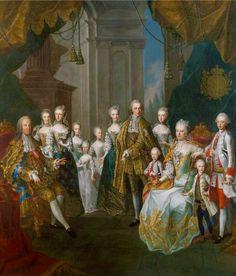 María Teresa de Austria y Francisco De Lorena con su familia,la más pequeña al centro del cuadro, es Maria Antonieta .