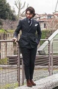 Pitti Uomo 85 (2014). Nicola Ricci (Sciamat). Source:therakeonline.com-A Flavour Of Florence- Guerre's Pitti Uomo Picks, Exclusive To The Rake
