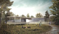 Our competition entry for Langley Vale Visitors Centre.