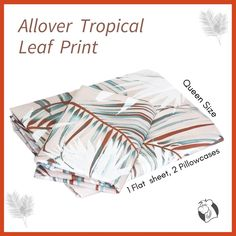 Bring comfort to your home with this soft allover tropical leaf on queen size bedding. Featuring the tri-colour tropical leaf print on a light background that create cool, a calm paradise with a sense of relaxation and style. #balooworldotca #homedecor #bedsheet #bedsheets #bedsheetset #bedsheetcotton #bedsheetquality #balooworldbedsheet #tropicalvibes #tropicalprints #tropicalprint #tropicalleafprint #summercollection #summerbedding #decoryourhome #decorateyourhome #cottonbedding #bedlinen Cotton Bedding, Linen Bedding, Flat Sheets, Bed Sheets, Tropical Vibes, Clothes Line, Bed Sheet Sets, Lights Background, Queen Size Bedding