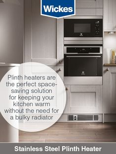 Our selection of are the perfect solution for keeping your warm, without the need for a bulky Installing a plinth heater means you can enjoy the benefit of additional space for cupboards and worktops. Central Heating, House Extensions, Kirchen, Radiators, Space Saving, Home Kitchens, Kitchen Design, Stainless Steel, Extension Ideas