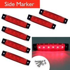6 pcs Waterproof Red Sealed 6LED Bus Van Truck Trailer Side Marker Light 12V | eBay Motors, Parts & Accessories, Car & Truck Parts | eBay!