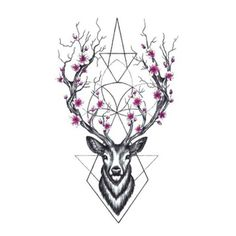Wyuen Hot Designs Deer Temporary Tattoo For Adult Man Woman Waterproof Hand Fake Tatoo Sticker Elk Animal Body Art A-073