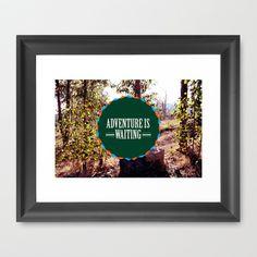 Adventure is Waiting Framed Art Print by Dee Marie Design - $38.00