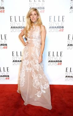 Pin for Later: What Would the Elle Style Awards Be Without Some Killer Outfits? Ellie Goulding Who's the latest person to wear sheer on the red carpet? That would be Ellie Goulding! Luckily, the singer remembered to wear underwear.