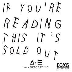 #SoldOut  #DOSOS #DOSOSCLOTHING #DOSOSdotCLOTHING