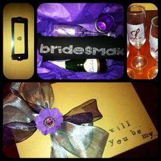 My DIY bridesmaid box ;)    http://somethingturquoise.com/2011/10/14/diy-will-you-be-my-bridesmaid/