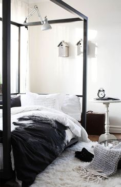 love the metal bed frame can do without the birdhouses on the wall