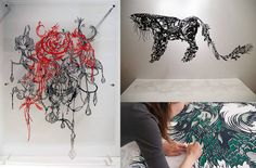 paper-sculptures, hand-cut...amazing!