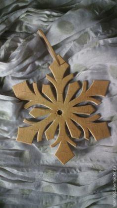 Купить снежинка №2 - бежевый, снежинка, снежинки, елочные игрушки, елочные украшения, елочная игрушка