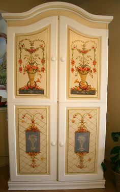 Hand Painted Armoire by artist Marsha Bowers/Zulim Bowers Designs