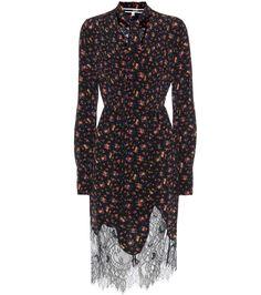 mytheresa.com - Floral-Printed Silk Dress | McQ Alexander McQueen - mytheresa - Luxury Fashion for Women / Designer clothing, shoes, bags