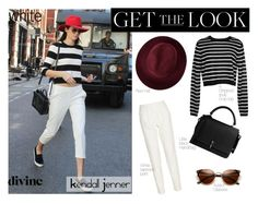 """""""Get The Look: Kendall's Stripped Top"""" by jennytrends ❤ liked on Polyvore featuring Carven, TIBI, Redopin, DKNY, kendalljenner, 2016trends, 2016fashion, 2016Trend and kardfashion"""