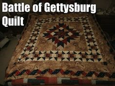 Battle of Gettysburg Quilt   (courtesy of @Pinstamatic http://pinstamatic.com)