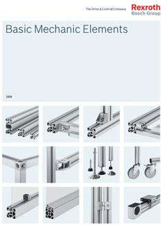 Aluminium Profile System with connection elements Bosch Rexroth