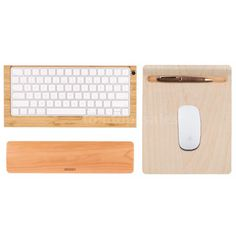 iMac Wireless Bluetooth Keyboard Stand Dock +Wood Mouse Mat +Wrist Cushion R0A5 | Computers/Tablets & Networking, Laptop & Desktop Accessories, Mouse Pads & Wrist Rests | eBay!
