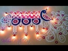 Beautiful Welcome Rangoli Designs with Colours For Festivals - Functions special. - Home Decor Rangoli Designs Peacock, Indian Rangoli Designs, Rangoli Designs Latest, Rangoli Patterns, Small Rangoli Design, Rangoli Border Designs, Colorful Rangoli Designs, Rangoli Designs Images, Beautiful Rangoli Designs