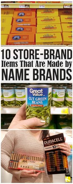 These 9 Store-Brand Items Are Made by Name Brands - Finance tips, saving money, budgeting planner Save Money On Groceries, Ways To Save Money, Money Tips, Money Saving Tips, Money Savers, Groceries Budget, Money Hacks, Planning Budget, Meal Planning