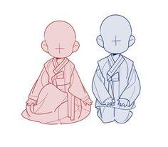 Reminds me of Sens version of the Batson Twins. Drawing Base, Manga Drawing, Drawing Sketches, Character Poses, Character Design, Poses Manga, Chibi Sketch, Poses References, Sketch Inspiration