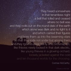 Cormac Mccarthy Quotes Cormac Mccarthy Quote Hand Typed On Antique Typewriter Scrapbooking .