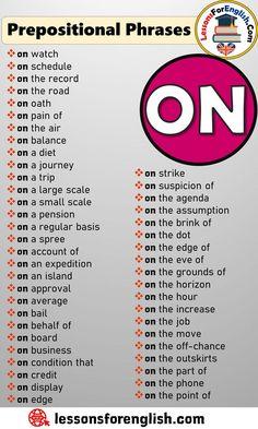 English Learning Spoken, Teaching English Grammar, English Writing Skills, Essay Writing Skills, English Language Learning, Writing Words, German Language, Teaching Spanish, English Prepositions