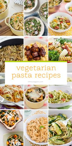 25 Vegetarian Pasta Recipes from Oh My Veggies