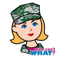 "Girls Can't WHAT? coolest design for Marine Girls and the famous ""Girls Can't WHAT?"" gifts that you can give them. Use the ColorizeME Tool to create a personalized gift she'll truly love! http://www.girlscantwhat.com/personalized-gifts/marine/   #girlscantwhat #girlpower #marine"